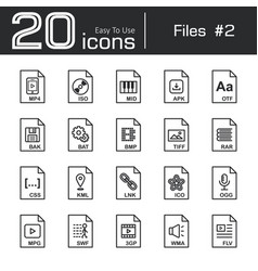 Files icon set 2 vector