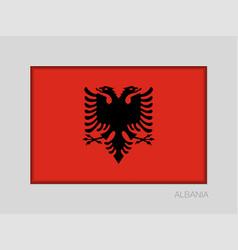Flag of albania national ensign aspect ratio 2 to vector