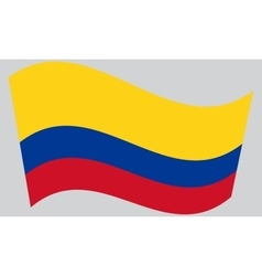 Flag of Colombia waving vector image