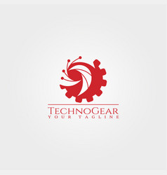 gear logo templatetechnology design for business vector image