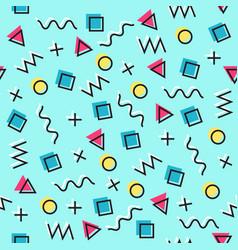 Geometric memphis seamless pattern vector