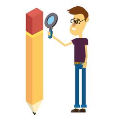graphic designer cartoon vector image