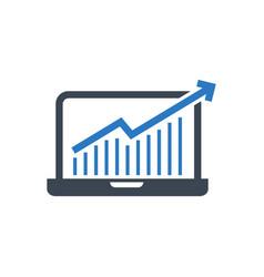 Growth traffic glyph icon vector
