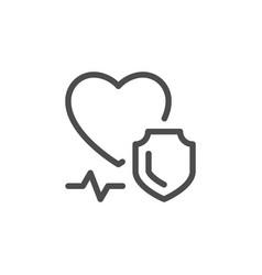 health insurance line icon vector image