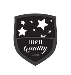 high quality shield emblem logo vector image