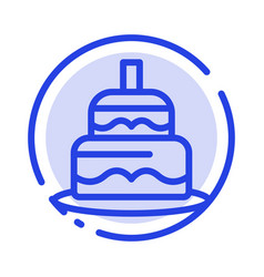 Indian cake day country blue dotted line line icon vector