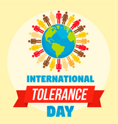 International tolerance day concept background vector