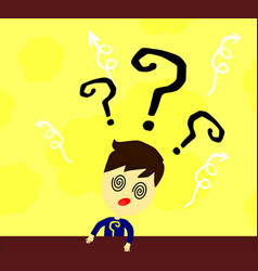 isolated confused child shrugging shoulders vector image