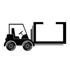 Isolated delivery forklift design vector image