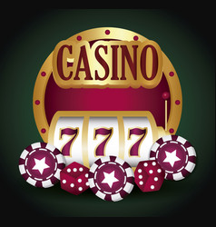 jackpot and casino design vector image
