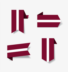 latvian flag stickers and labels vector image