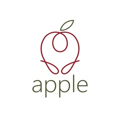 line craft apple vector image