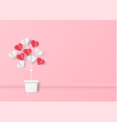 Love and valentine day and balloon heart shape vector