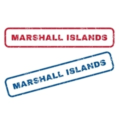 Marshall Islands Rubber Stamps vector