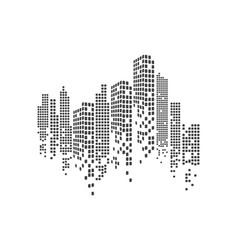 modern city skyline city silhouette vector image