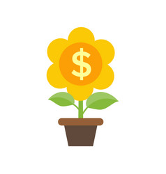 money flover icon - returns on investment concept vector image