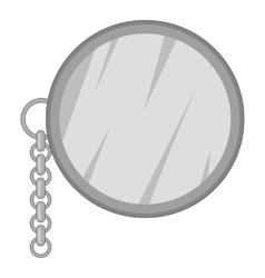 Monocle icon gray monochrome style vector image vector image