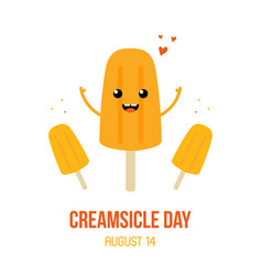 National creamsicle day card vector
