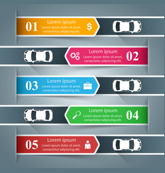 paper business infographic car road icon vector image