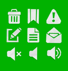Paper cut icons for web and mobile applications se vector