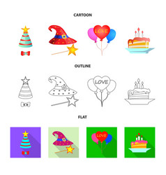 party and birthday icon vector image