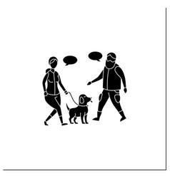 Pets benefits glyph icon vector