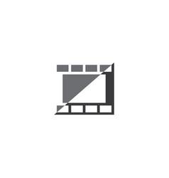 Photographic film logo design element vector