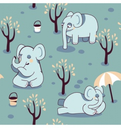 playful elephants vector image