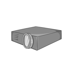 Projector icon black monochrome style vector