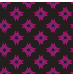 Purple Shuriken Pattern on Dark vector