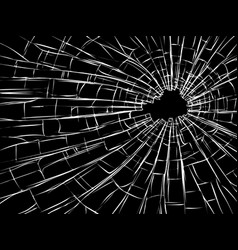 Radial cracks on broken glass vector