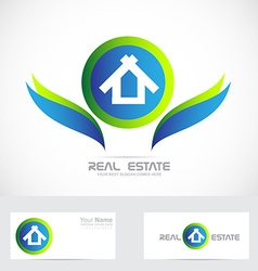 Real estate logo icon vector