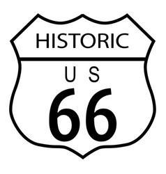 Route 66 historic vector