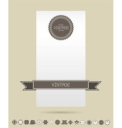 Set of blank retro vintage badges and labels card vector image