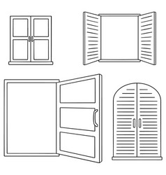 set of window vector image