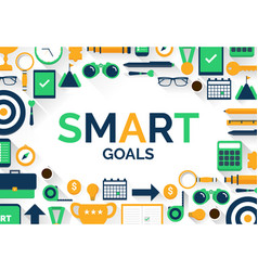 Setting smart goals vector