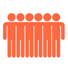 six man sign people icon vector image