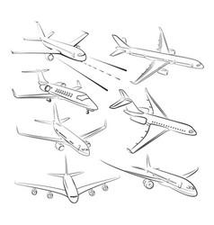 Sketches of planes vector