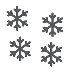 snowflake glyph icon winter and forecast snow vector image