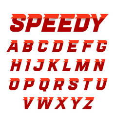 Speedy style dynamic alphabet vector