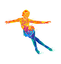 Sport figure skating vector