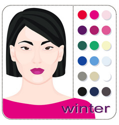 Stock winter type female appearance vector