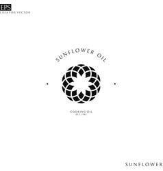 sunflower oil logo template vector image