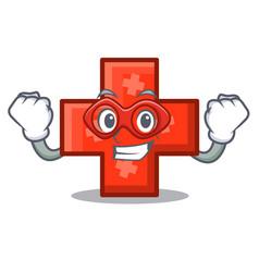 super hero cross character cartoon style vector image