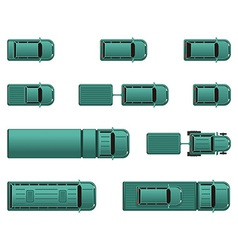 Top view different automobiles vector image