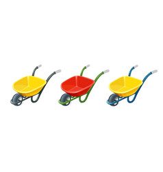 Wheelbarrow gardening tools vector