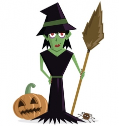 Wicked witch Halloween vector