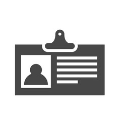 identification card flat icon vector image