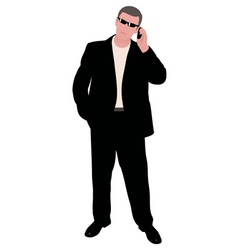 man with cellphone vector image vector image
