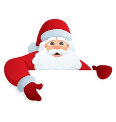 santa with sign vector image